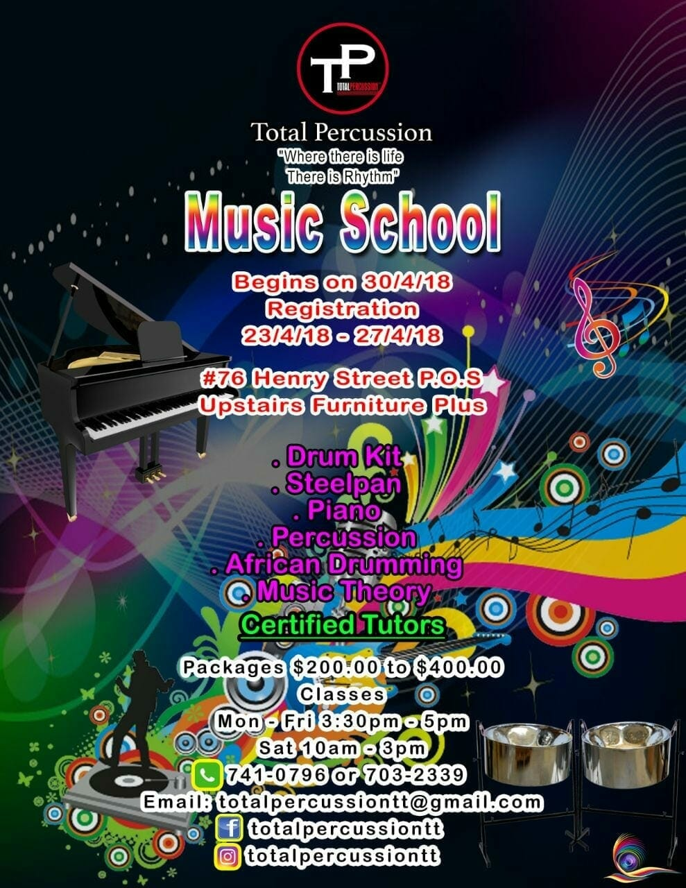 Total Percussion 2018 Music Training Programme