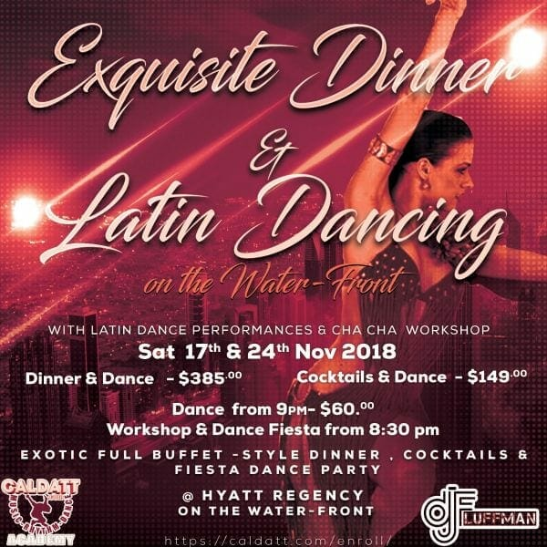 Dinner & Latin Dance Fiesta on the Water-Front